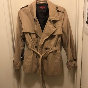 Merona double breasted short trench 4X